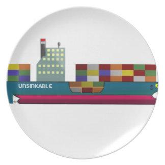 Navire porte-conteneurs assiettes en mélamine