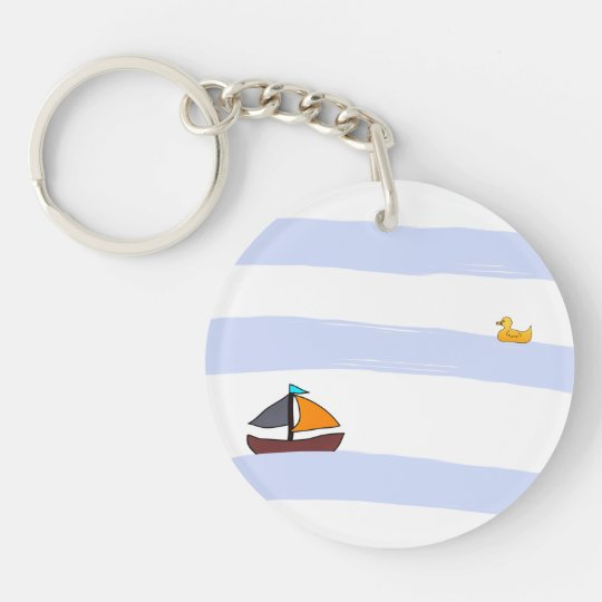 NAVY KEY RING HOLDER / PORTE-CLÉ ROND MARITIME