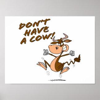n'ayez pas une bande dessinée humoristique de vach affiches
