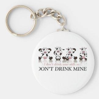 Ne buvez pas de mon lait porte-clés