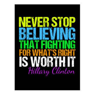 Ne cessez jamais de croire en Hillary de Carte Postale