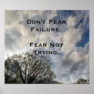Ne craignez pas l'affiche inspirée de photo poster