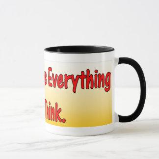 Ne croyez pas le cadeau de tasse