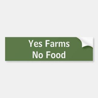 Ne cultive oui aucune nourriture autocollant de voiture