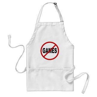 Ne détestez les jeux/aucun jeu permis la tablier