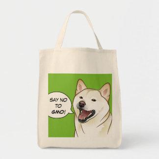 Ne dites AUCUN sac à provisions de chien de Shiba