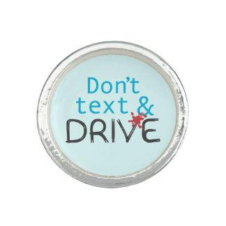 Ne font pas le message de sécurité des textes et bague avec photo
