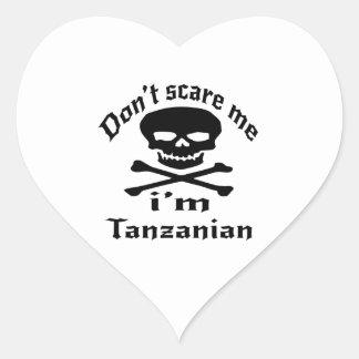 Ne m'effrayez pas que je suis tanzanien sticker cœur
