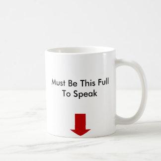 Ne parlez pas la tasse de café