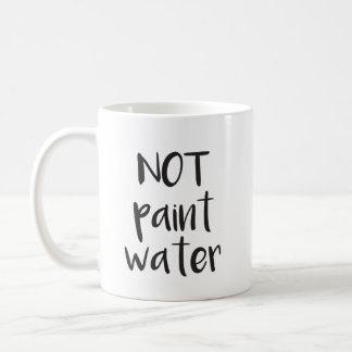 Ne pas peindre la tasse de l'eau