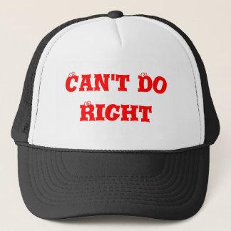 Ne peut pas faire convenablement casquette