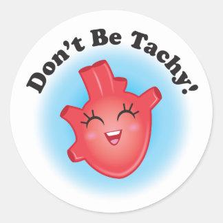 Ne soyez pas des autocollants de coeur de Tachy