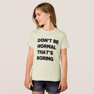 Ne soyez pas le T-shirt américain de l'habillement