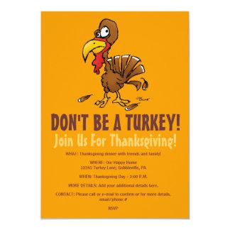 Ne soyez pas une invitation drôle de thanksgiving