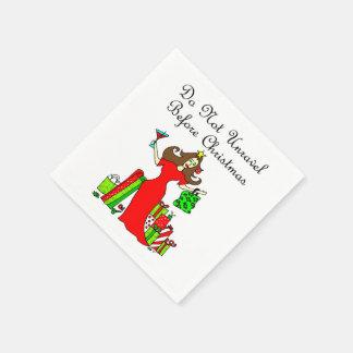 Ne vous démêlez pas avant Noël - reine de Noël Serviette Jetable