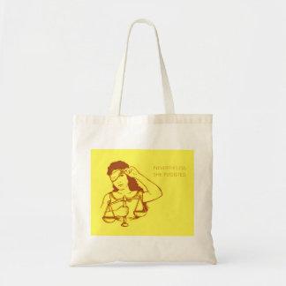 Néanmoins, elle a persisté fourre-tout (jaune) sac en toile budget