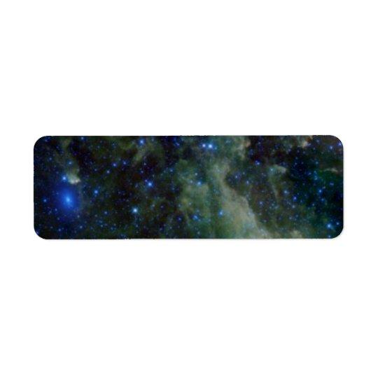 Nébuleuse de Cassiopeia dans la galaxie de manière Étiquette D'adresse Retour