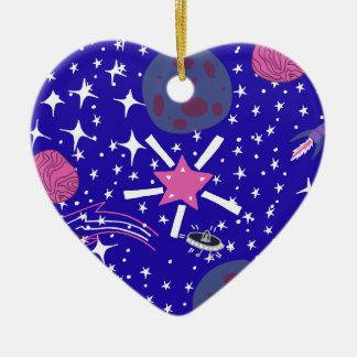 nébuleuse ornement cœur en céramique