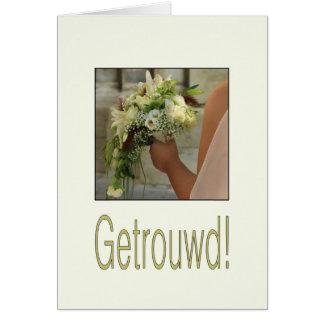 Nederlandse huwelijksgelukwensen kaart