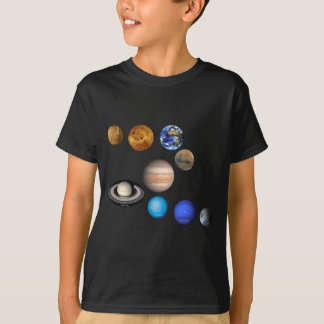 Negen Planeten in het Zonnestelsel T Shirt
