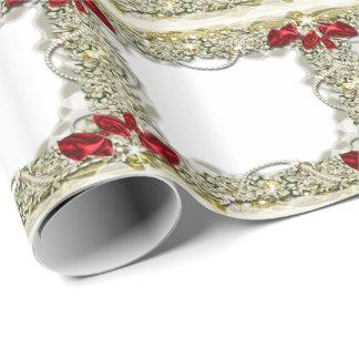 Neige de perle d'arc de guirlande papier cadeau