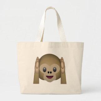 N'entendez aucun singe mauvais Emoji Sac En Toile Jumbo