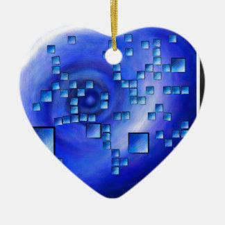 Nepheros V1 - carré de planète Ornement Cœur En Céramique