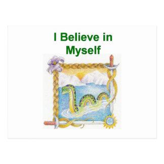 Nessie - je crois en me carte postale