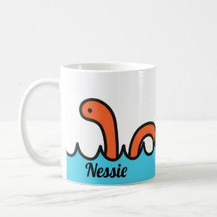 Écossais Nouveauté Cartoon Nessie Thé Serviette