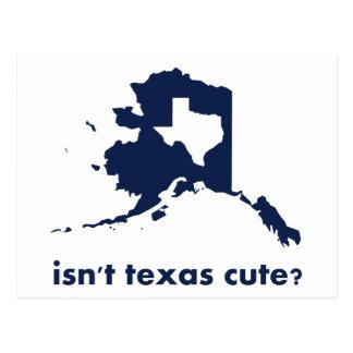 N'est pas mignon du Texas comparé à l'Alaska Carte Postale