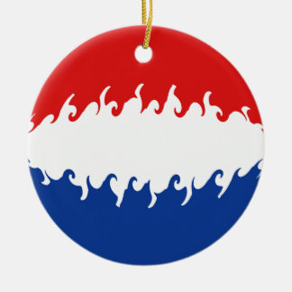 Netherlands Gnarly Flag Christmas Ornaments