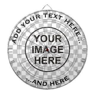 Nettoyez la cible avec le texte fait sur commande jeu de fléchettes