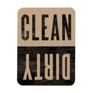 Nettoyez l'aimant sale de lave-vaisselle de style