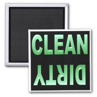 Nettoyez l'aimant sale de lave-vaisselle magnet carré
