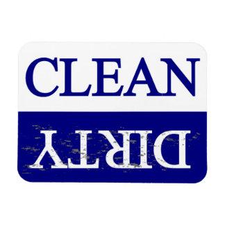 Nettoyez le lave-vaisselle bleu sale magnet en rectangle