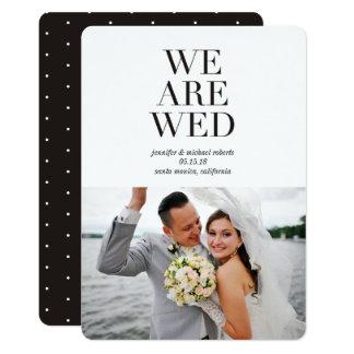 Nettoyez les annonces modernes de mariage de photo carton d'invitation  12,7 cm x 17,78 cm