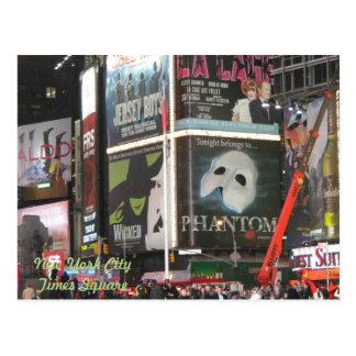 New York City, carte postale de Times Square