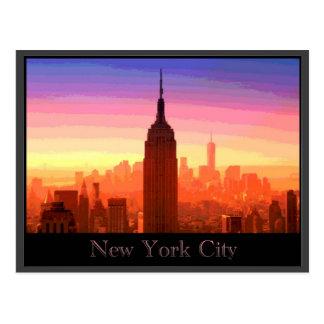 New York City coloré Carte Postale