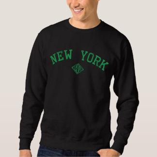 New York Etats-Unis a brodé le sweatshirt de base