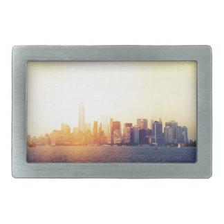 New York New York Boucles De Ceinture Rectangulaires