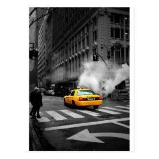 New York Ville Yellow Cab Carte Postale