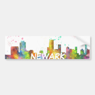 NEWARK, HORIZON DE NEW JERSEY AUTOCOLLANT DE VOITURE
