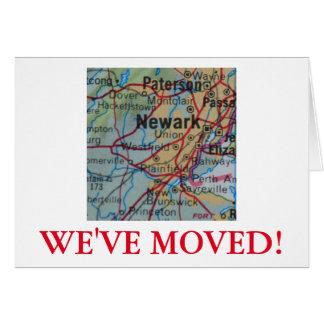 Newark nous avons déplacé le faire-part d'adresse