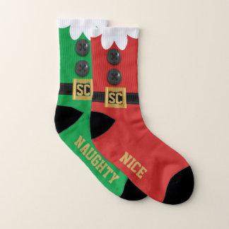 Nice chaussettes vilaines impaires drôles d'Elf de