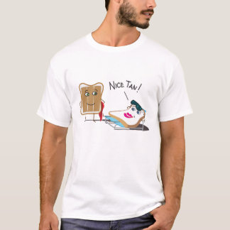 """""""Nice Tan drôle !"""" Pain grillé prenant un bain de T-shirt"""