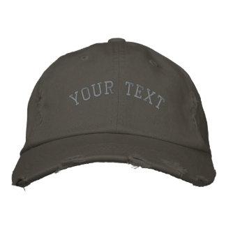 Nickel brodé affligé de casquette casquette de baseball