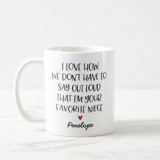Nièce préférée faite sur commande mug