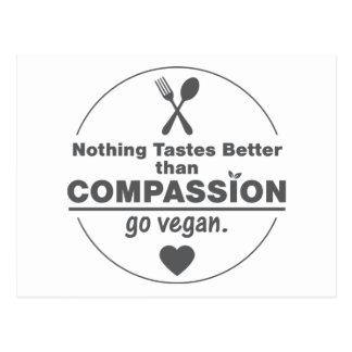 Niets proeft beter dan het Medeleven Veganist gaat Briefkaart