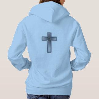 N'inquiétez pas la croix du sweat - shirt à