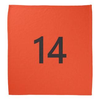 No. légendaire 14 dans l'orange et le noir foulard